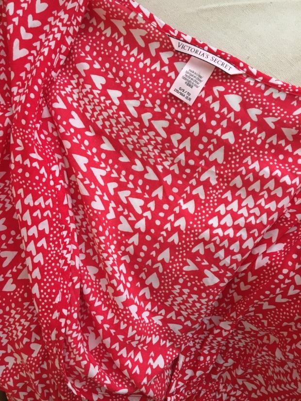 Red and white hearts Victoria secret kimono